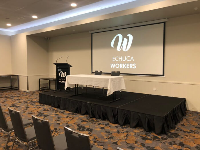 Portable Stage Lectern Function Room